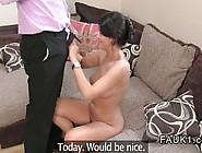 Cute British Amateur Babe Fucks On Casting