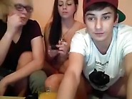 Immature Threesome Fun On The Webcam