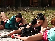Young Lesbian Babes Nice Rubbing Each Other Twat And Pissing