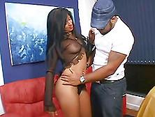 Ebony Chick Mayara Shelson Gets Undressed,  Sucked And Penetrated