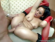 Hot Chick Aarielle Alexis In Red