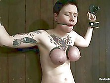 Ruby Reaper Gets Her Big Tits Tied And Her Shaved Pussy Vibrated