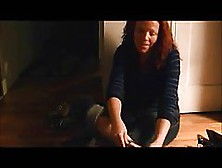 Red Haired Woman With Big Boobs Is Masturbating In Front Of The