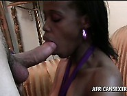 White Horny Tourist Gets His Huge Dick Sucked By Afro Slut
