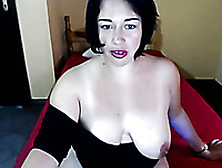 Wonderful Dark Haired Webcam Milf Was Posing So That To Show Her