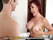 Hot Older Mom Seduces Her Son's Young Friend With Her Big J