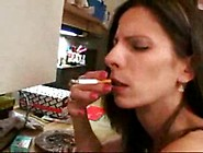 Mom Smoker Loves His Cum