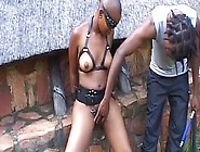 Bald Amateur African Chick Has Hardcore Sex Outdoors