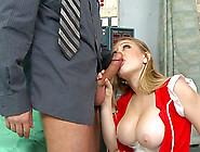 Brunette Kagney Linn Karter And Wide Pole