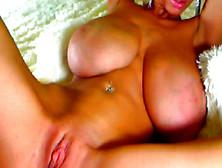 Big Chested Amateur Masturbates On Webcam