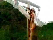 Bdsm Pet Puppy Sub Slave Hanging Crucifixion Whipp