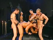 Spontaneous Cum Explosion In This Five-Man Dungeon Orgy