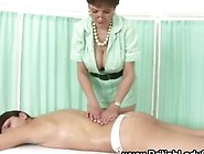 Mature Brit In Stockings Massages A Hot Milf