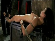Pretty Brunette Cums So Many Times In Bondage