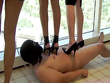 Goddess Rodea And Fellow Slave Trampling