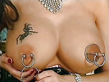 I Am Pierced - Busty Milf With Nipple Stretchers And Pussy R