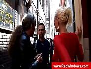 Dutch Blonde Hooker Gives Bareback Blowjob