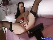 Brit Mature In Stockings Deepthroating Pov