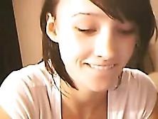Shor Hair Cutie Plays On Cam More On Beautyteencams. Com