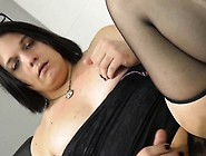 Chubby Trap Dildoing Her Ass In Solo Action