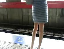 Apoyon Gringa En El Tren