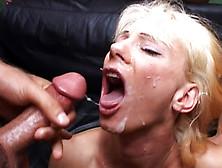 Mature Blonde Gets A Gangbang Treat