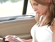 Sizzling Chick Ivana Moaning While Drilling Her Twat In Taxi