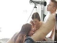 Teeny Lovers - Sensual Teen Chicks Share Cock