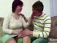 Mother Caught Step-Son And Seduce Him To Fuck Her