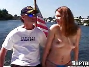 Yacht Payed Nearly Bj By Beginner Red Head Pussy
