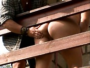 Huge Plump Woman Cynthia Give A Guy A Great Blowjob In The Backy