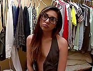 Skinny Teen With Glasses Enjoying A Hardcore Doggy Style Fuck