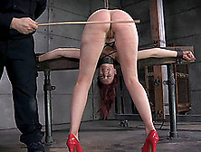Nasty Brunette Ashley Lane Getting Her Booty Spanked Hard And Go