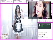 Asian Model Streamer Queenmico Seductively Dancing In Sexy Maid