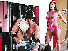 Wrestler Fills The Cunt Of Sporty Kendra Lust With His Big Cock