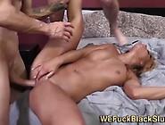 Ebony Slut Creampied By Two Cocks