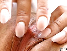 Pink Clit Teen Rubs Her Pussy In A Close Up