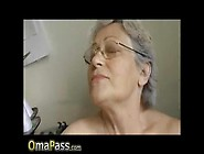 Old Grey Haired Granny Enjoying Life