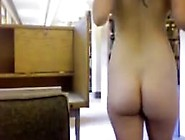 Hairy Nerd Getting Naked In Library On 4Xcams. Com