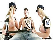 Punished By Two Busty Policewomen