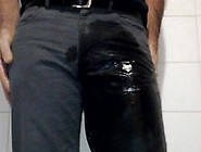 Grey Jeans Pissing