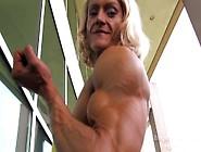 Brigita Brezovac The Horny Slovenian Muscle Slut In Yellow Dress