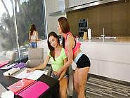 Brunettes Babes Jenna Sativa & Kendra Lust Scissoring,  Rubbing C