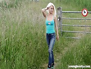 Big Tittied Young Blonde Lexie Enjoys Having Crazy Outdoor Sex