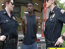 Two Female Police Officer Catch A Guy Committing A Crime And Mak
