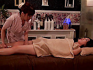 Seductive Asian Masseuse Fingers Her Clients Twat After An Eroti