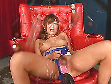 Satou Haruka Toys Her Pussy And Then Squirts Like A Fountain
