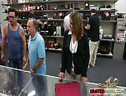 Busty Blonde Lady Gets Big Cash For Sex Inside Of The Pawn Shop