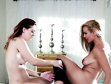 Lesbian Oil Massage With Karlie Montana And Sandy