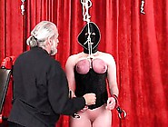 Her Tits Get Real Red,  Have Clips Put On Her Nipples And Is Hung